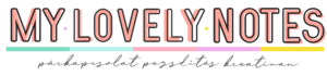 My lovely notes Logo